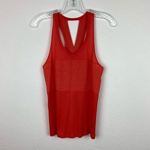 Lululemon | Coral Red Pedal To the Medal Singlet